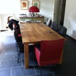 Eiken tafel met RVS